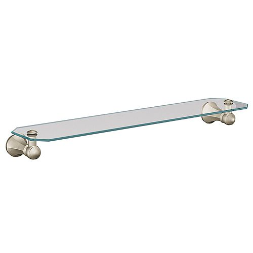Vestige Brushed Nickel Glass Shelf