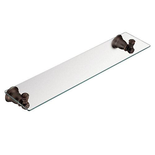 Kingsley Oil Rubbed Bronze Glass Shelf