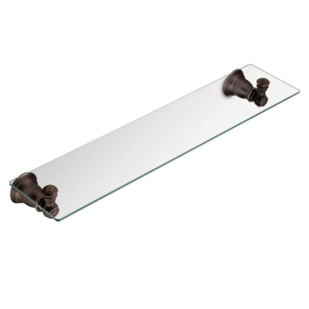 MOEN Kingsley Oil Rubbed Bronze Glass Shelf