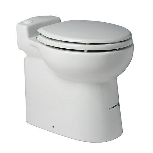 Sanicompact one piece toilet/pump system