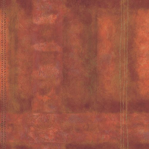 20.5 In. W Orange Large Abstract Plaid Wallpaper
