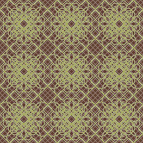 20.5 In. W Metallic Purple Lace Print Wallpaper