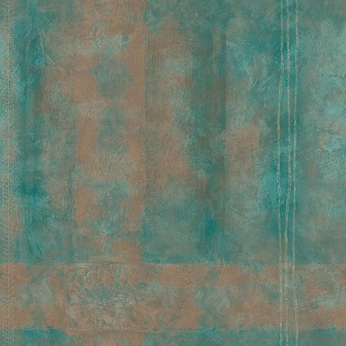 20.5 In. W Aqua Large Abstract Plaid Wallpaper