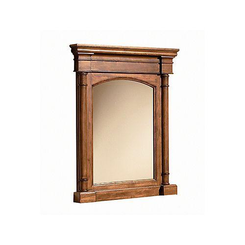Miroir encadré Wentworth de 28 po x 35 po (noyer)