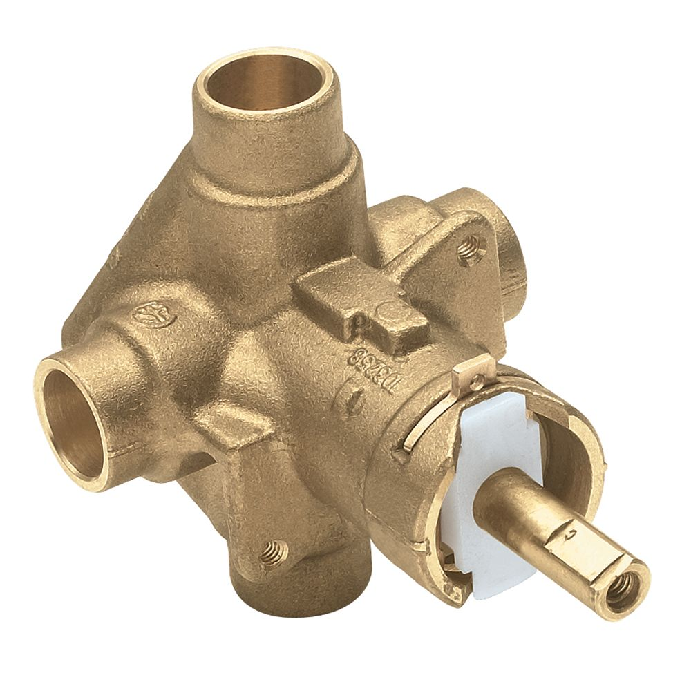 MOEN Brass Rough-In Posi-Temp Pressure-Balancing Cycling Tub and Shower Valve - 1/2-inch CC Connection
