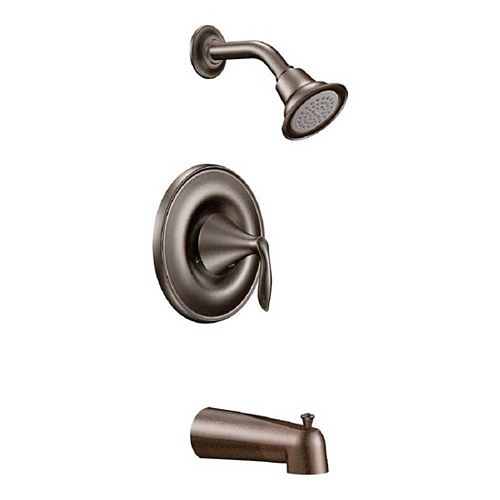 Eva Single-Handle 1-Spray Posi-Temp Tub and Shower Faucet Trim Kit in Oil Rubbed Bronze (Valve Not Included)