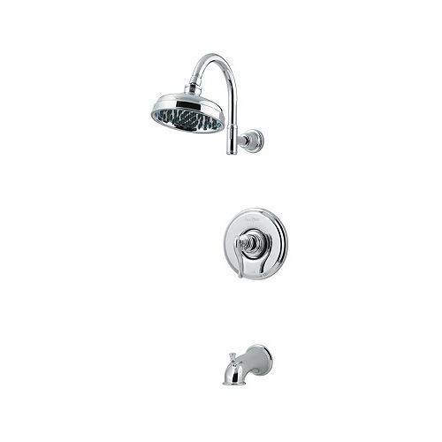 Pfister Ashfield 1-Spray Wall-Mount Tub  Shower Faucet in Chrome with Showerhead