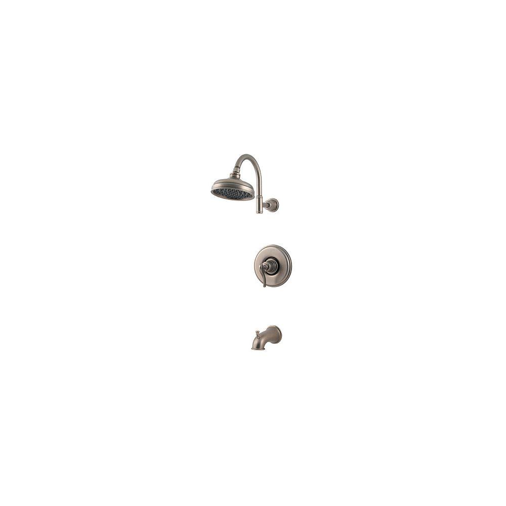 Pfister Ensemble de robinets pour la baignoire et douche à commande unique Ashfield - Étain rustique
