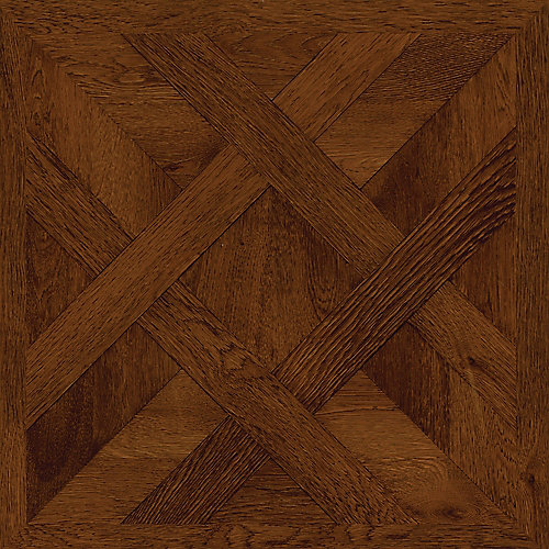 Chateau Parquet Dark 16-inch x 32-inch Luxury Vinyl Tile Flooring (21.3 sq. ft. / case)
