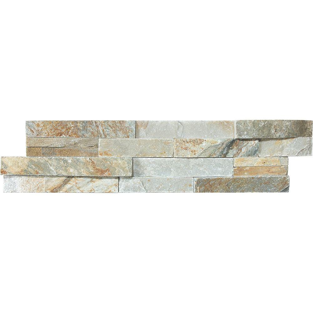Enigma 6-Inch x 24-Inch Beachwalk Ledger Stone Tile