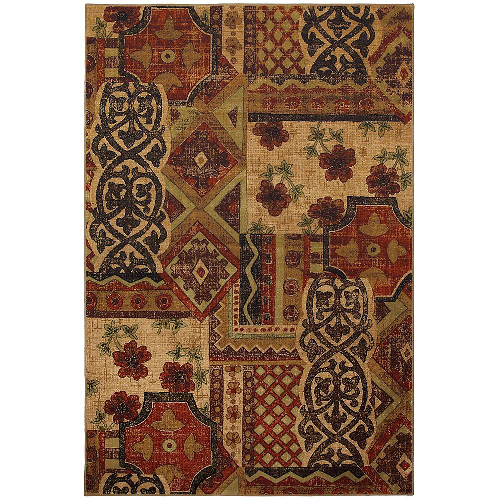 Mohawk Home Decorator's Choice Brown 5 ft. 3-inch x 7 ft. 10-inch Rectangular Area Rug