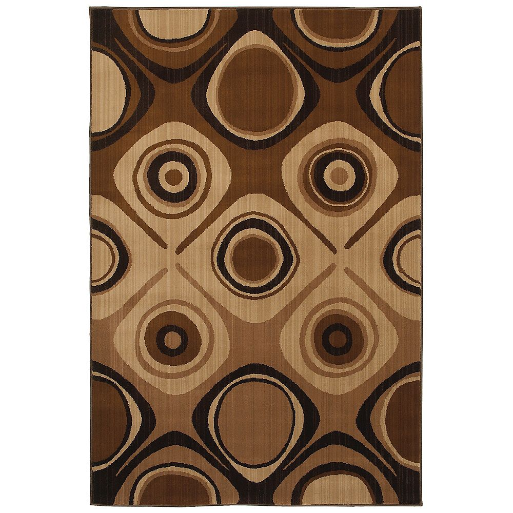 Mohawk Home Select Kaleidoscope Danger Zone Beige Tan 5 ft. 3-inch x 7 ft. 10-inch Rectangular Area Rug