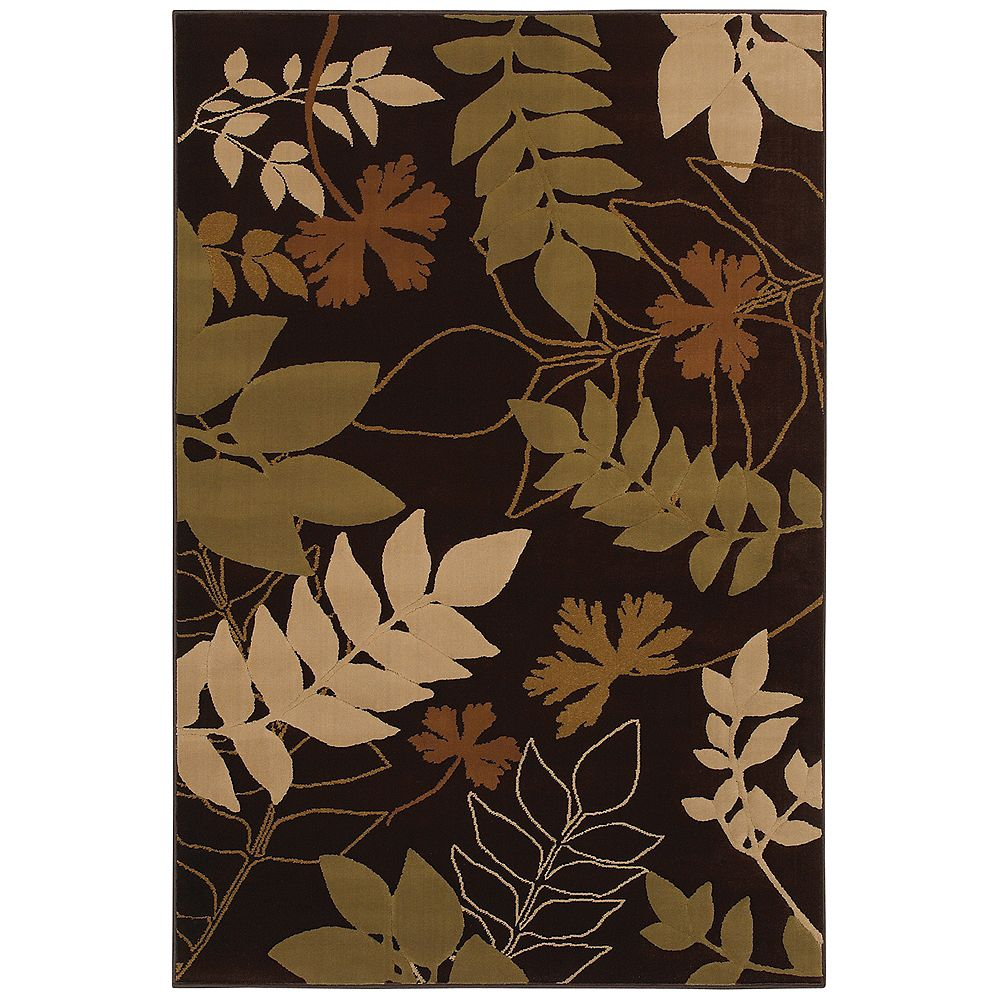 Mohawk Home Select Pinnacle Hidden Escape Brown 5 ft. 3-inch x 7 ft. 10-inch Rectangular Area Rug