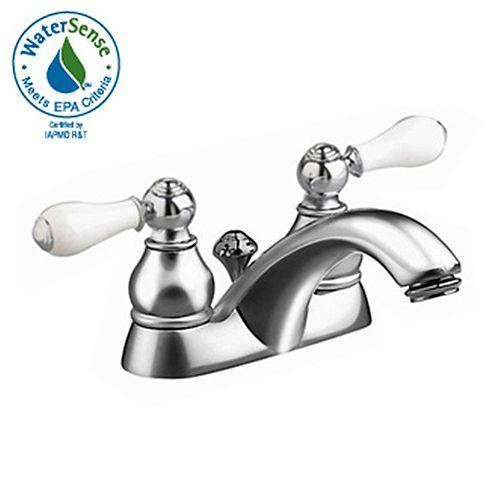 American Standard Robinet de toilettes Hampton à 2 poignées avec vidange automatique en chrome