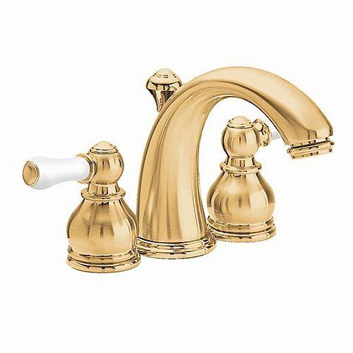 American Standard Hampton 4-inch Minispread 2-Handle Bathroom Faucet in Polished Brass