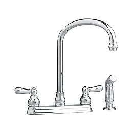 Hampton 2-Handle Standard Kitchen Faucet in Polished Chrome