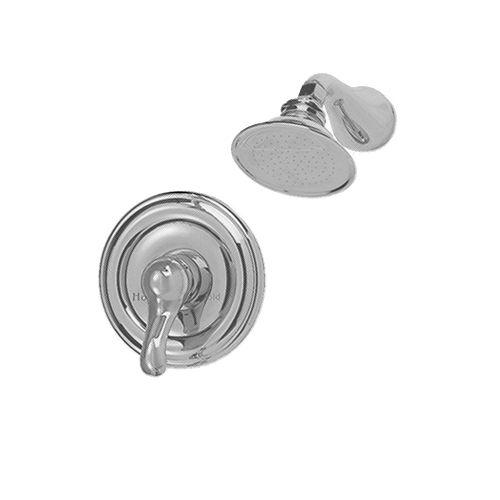 American Standard Robinet de douche rond à poignée unique au jasmin en nickel satiné