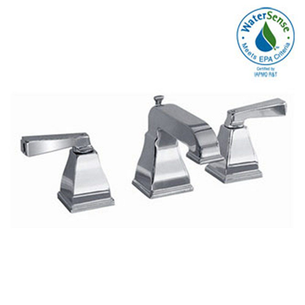American Standard Robinet de salle de bains de 8 pouces à deux poignées en nickel brossé