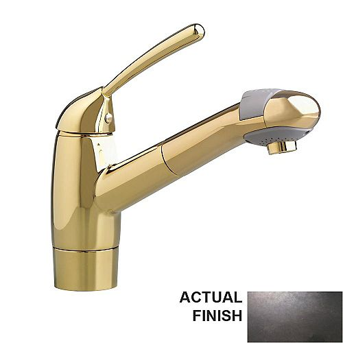 Culinaire Single-Handle Pull-Out Sprayer Kitchen Faucet in Blackened Bronze