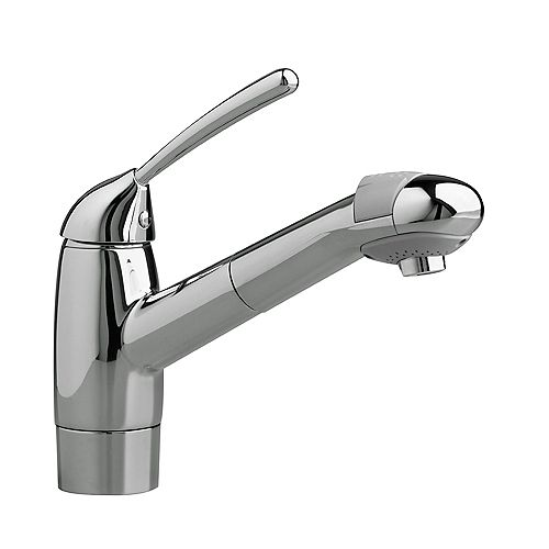 Culinaire Single-Handle Pull-Out Sprayer Kitchen Faucet in Stainless Steel