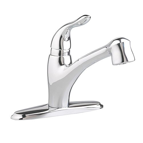 Lakeland Single-Handle Pull-Out Sprayer Kitchen Faucet in Polished Chrome