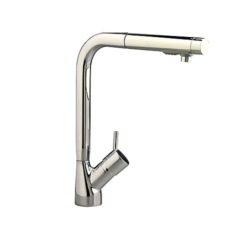 Culinaire Single Control Kitchen Faucet with Pull-Out Spray in Stainless Steel
