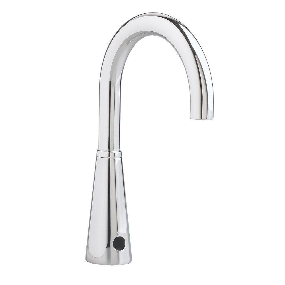 American Standard Selectronic DC-Powered Touchless Bathroom Faucet with 6-inch Gooseneck Spout in Polished Chrome