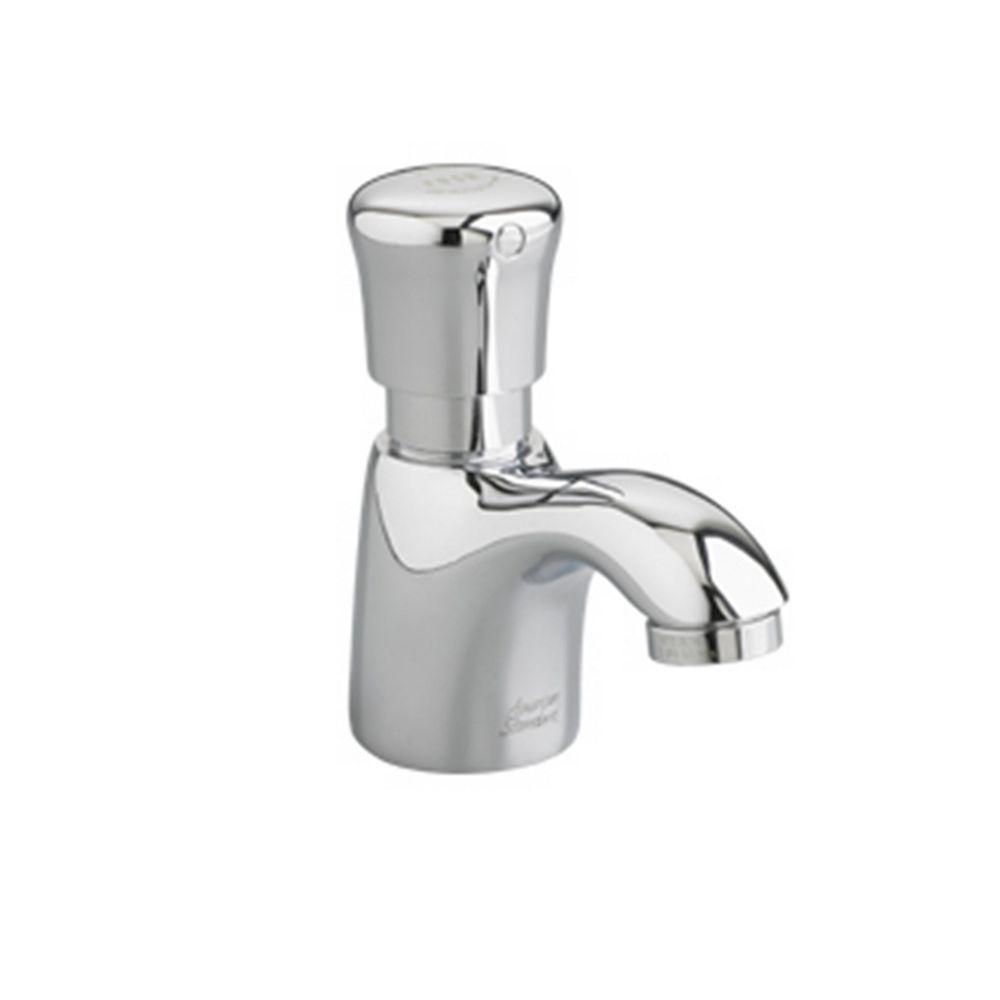 American Standard Robinet de salle de bains à un trou et à une poignée en chrome poli