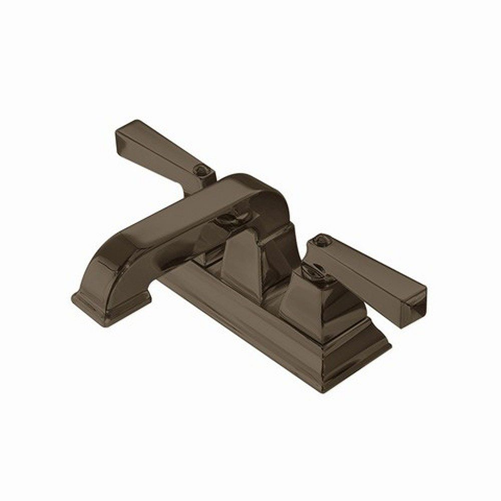 American Standard Robinet de salle de bain de 4 pouces à 2 poignées en bronze noirci avec drain à connexion rapide