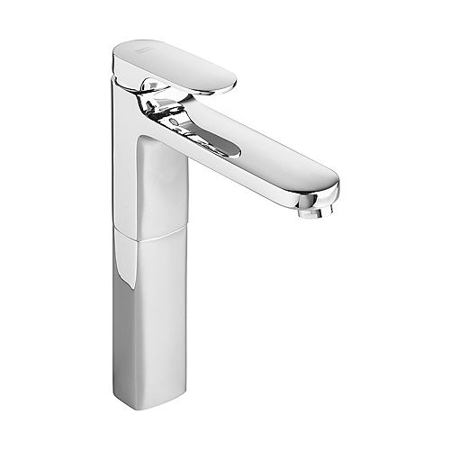American Standard Moments Single Hole Single-Handle Low-Arc Bathroom Faucet with Grid Drain in Polished Chrome Finish