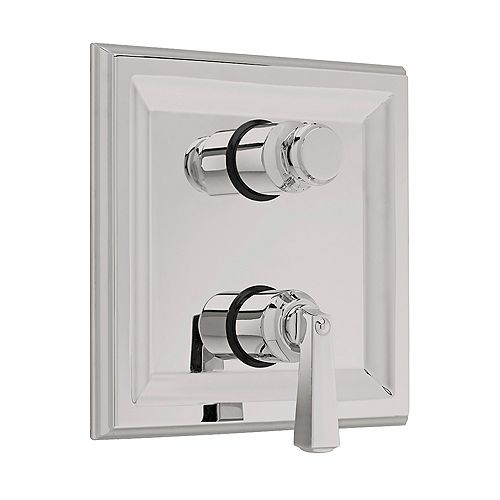 Town Square 2-Handle Thermostat Valve Trim Kit with Separate Volume Control in Satin Nickel (Valve Not Included)