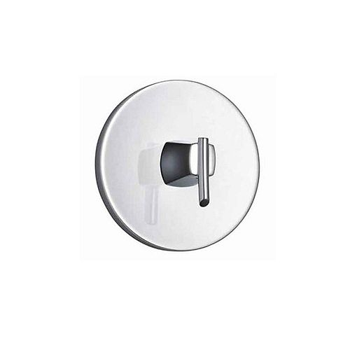 Green Tea 1-Handle Central Thermostatic Valve Trim Kit in Polished Chrome (Valve Not Included)