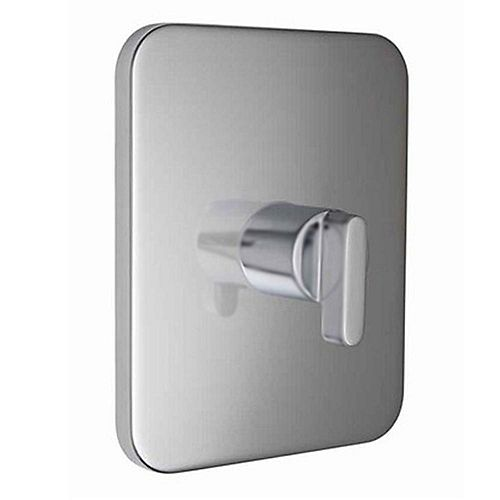 Moments 1-Handle Central Thermostatic Valve Trim Kit in Stainless Steel (Valve Not Included)