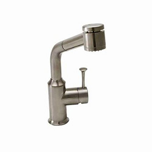 Pekoe Single-Handle Pull-Out Sprayer Kitchen Faucet in Stainless Steel