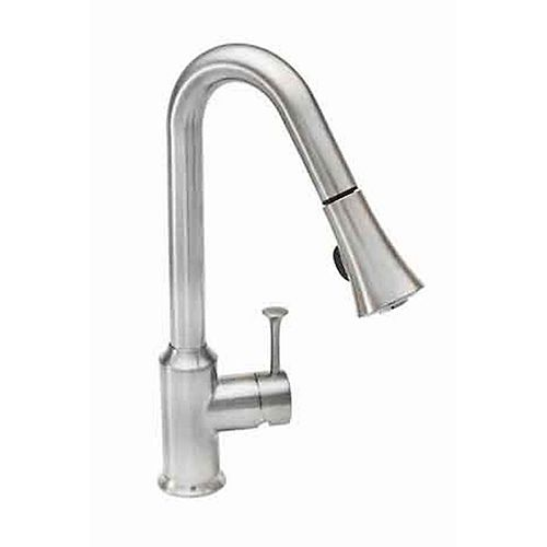 Pekoe Single-Handle Pull-Down Sprayer Kitchen Faucet in Polished Chrome