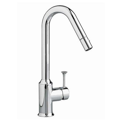 Pekoe Single-Handle Pull-Down Sprayer Hi-Arc Kitchen Faucet in Stainless Steel