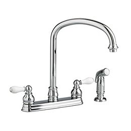 Williamsburg 2-Handle Side Sprayer Kitchen Faucet in Polished Chrome
