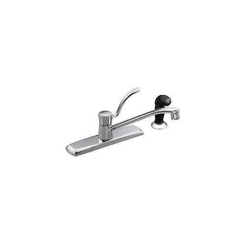 Legend 1 Handle Kitchen Faucet with Side Spray - Chrome Finish