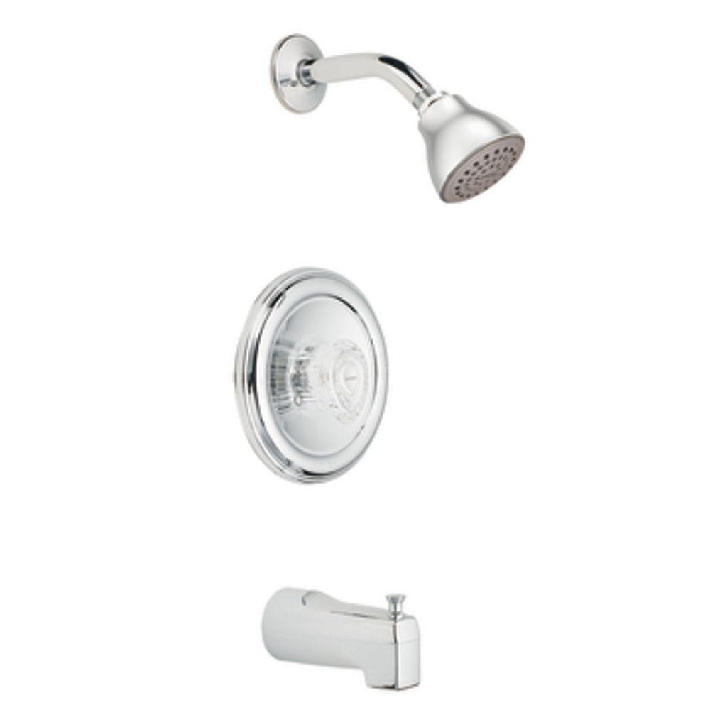 MOEN Chateau Posi-Temp Bath/Shower Faucet in Chrome