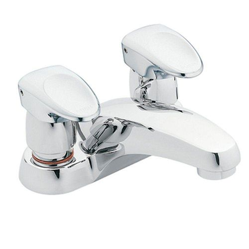 MOEN Commercial 4-inch Centerset Single-Handle Bathroom Faucet 0.5 GPM 6-inch Extended Handle Lever in Chrome