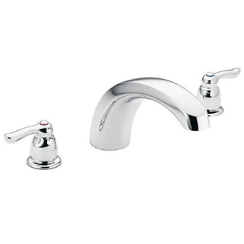 Robinetterie de baignoire romaine à 2 poignées en chrome (robinet vendu séparément)