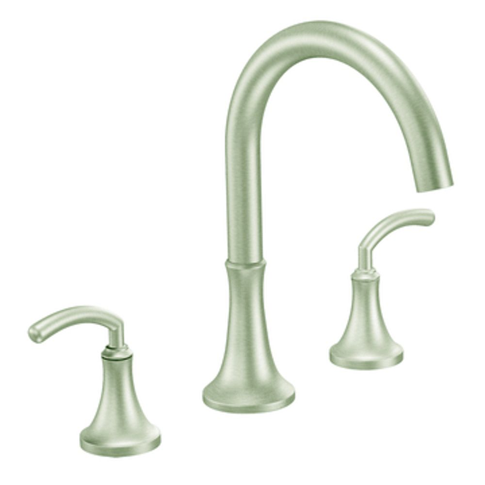 MOEN Icon 2-Handle High Arc Roman Bath Faucet in Brushed Nickel