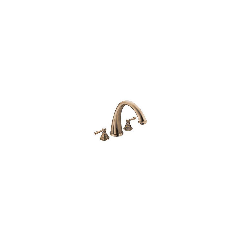 MOEN Kingsley 2-Handle High Arc Roman Bath Faucet in Antique Bronze