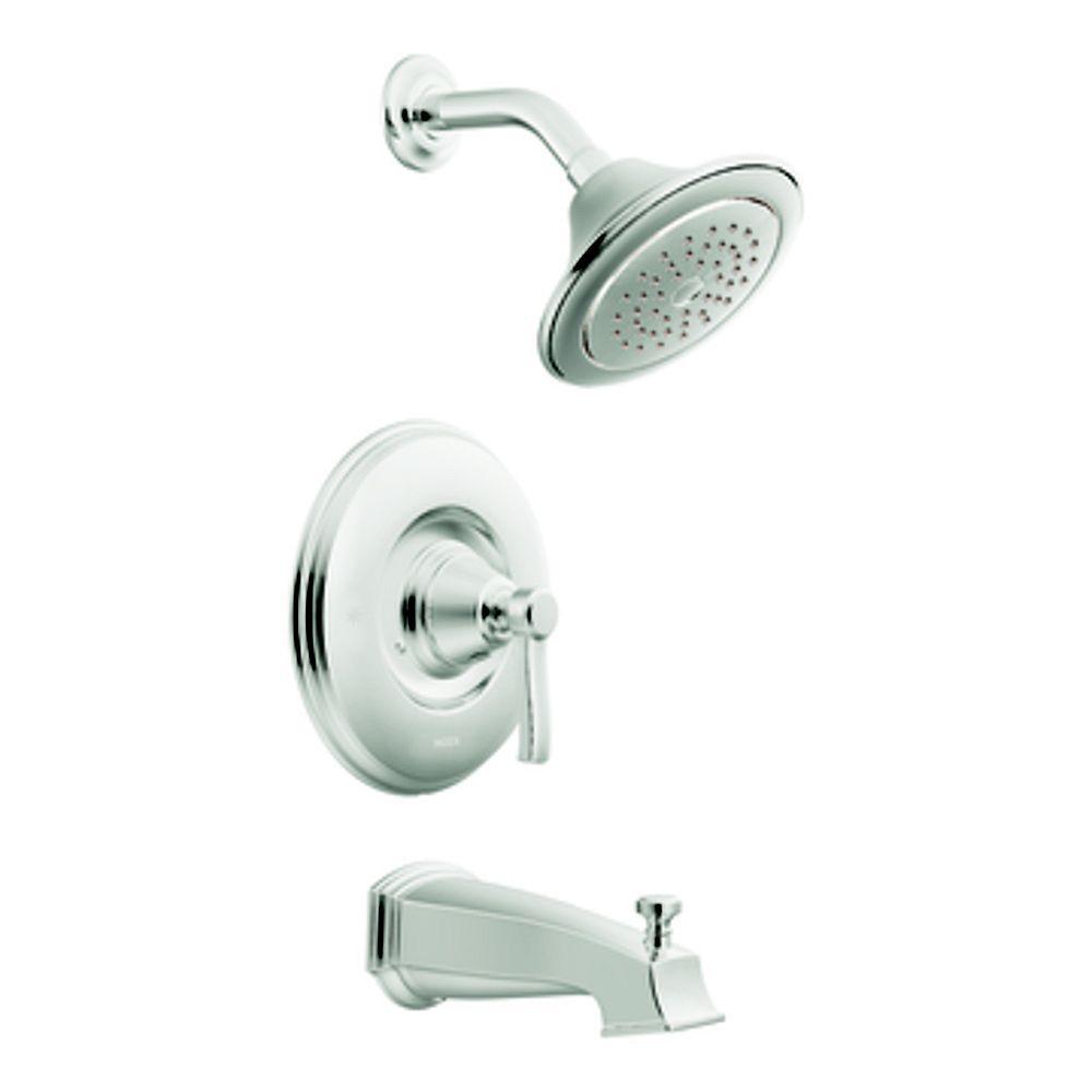 MOEN Rothbury Moentrol Bath/Shower Faucet with Showerhead in Chrome