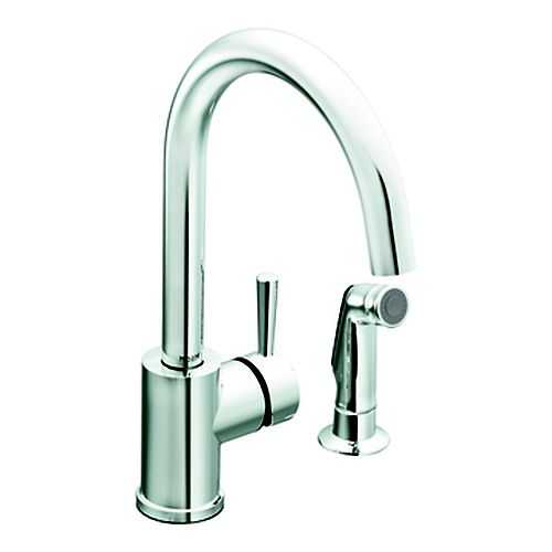 Level 1 Handle Kitchen Faucet with Matching Side Spray - Chrome Finish