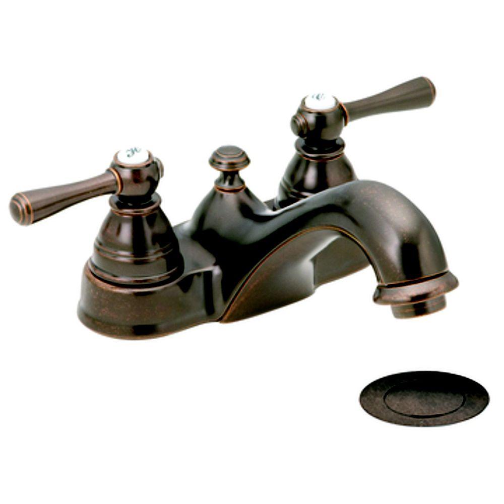 MOEN Kingsley 4-inch Centerset 2-Handle Bathroom Faucet in Oil Rubbed Bronze
