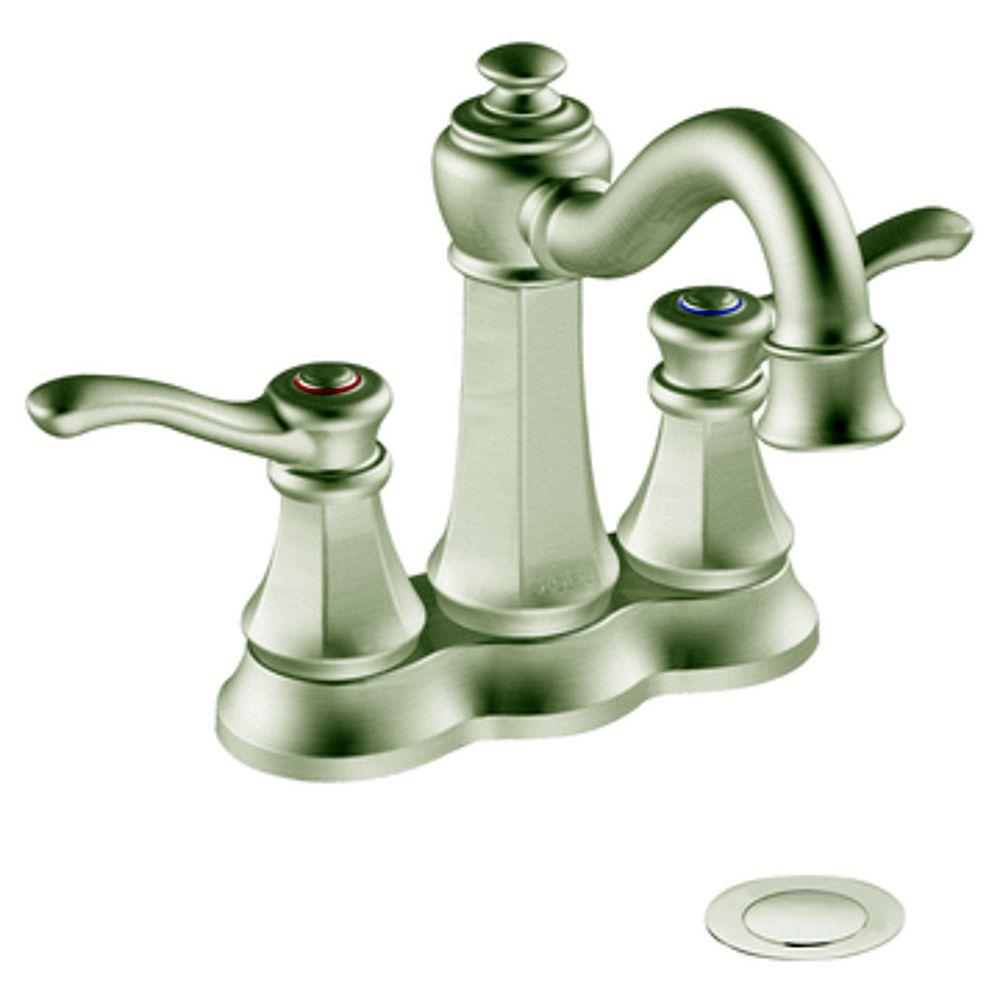 MOEN Vestige 2-Handle Bathroom Faucet in Brushed Nickel Finish