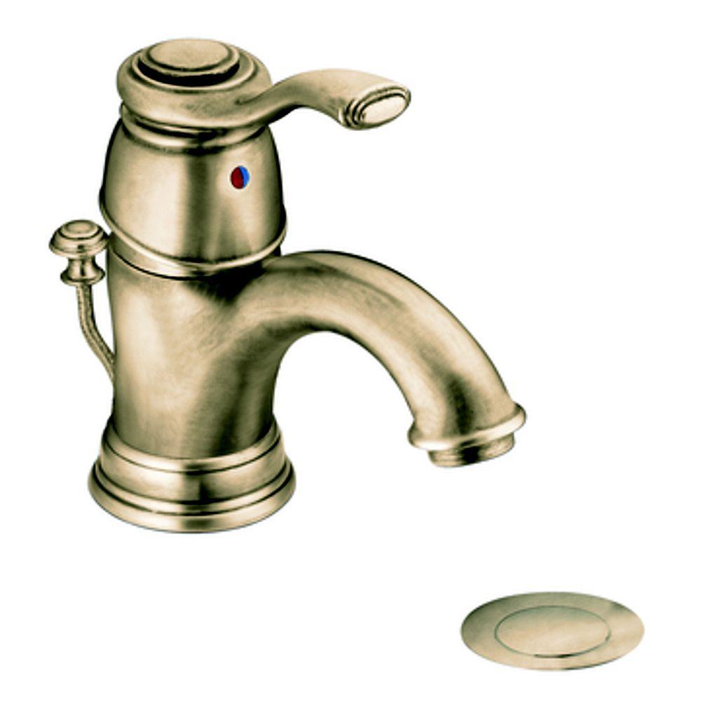 MOEN Kingsley Single-Handle Bathroom Faucet in Antique Bronze Finish