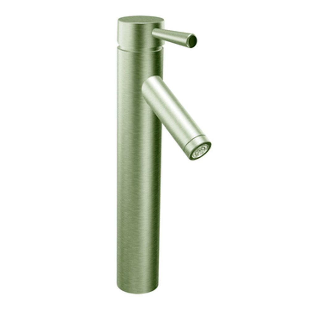 MOEN Level Single-Handle Bathroom Faucet in Brushed Nickel Finish