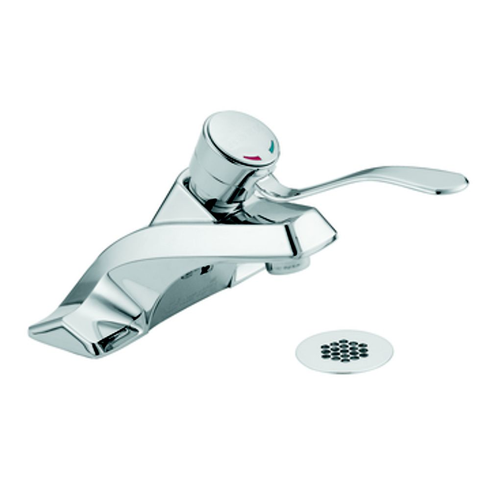 MOEN Commercial Single-Handle Bathroom Faucet in Chrome Finish